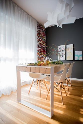 mesa industrial-rústica. hierro y madera de cipres.