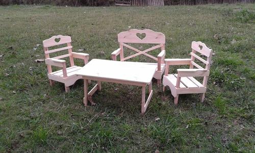 mesa infantil 70x40x40 para chicos y sillones niños oferta