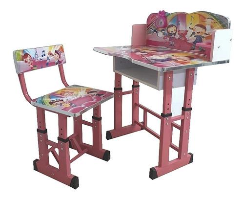 mesa infantil ajustavel mesinha de estudo com cadeira menina