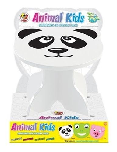 mesa infantil animalkids panda em madeira mesinha didatica c