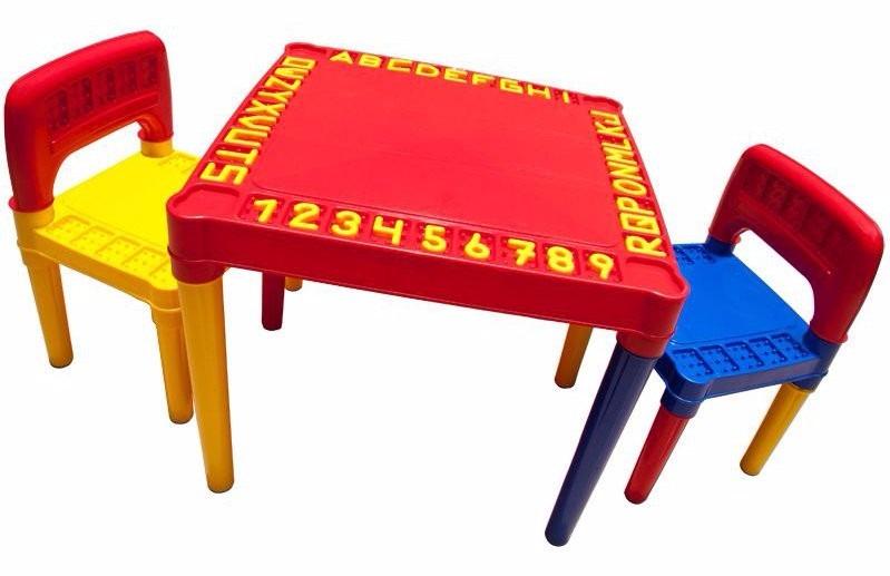 Mesa infantil atividades cadeira desmontavel 50x50 r for Mesa infantil