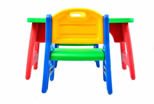 mesa infantil c/2 sillas rodacross pvc + kit para colorear!