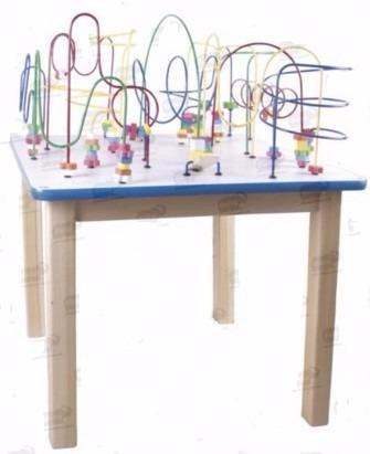 mesa infantil con laberintos grande marca diako