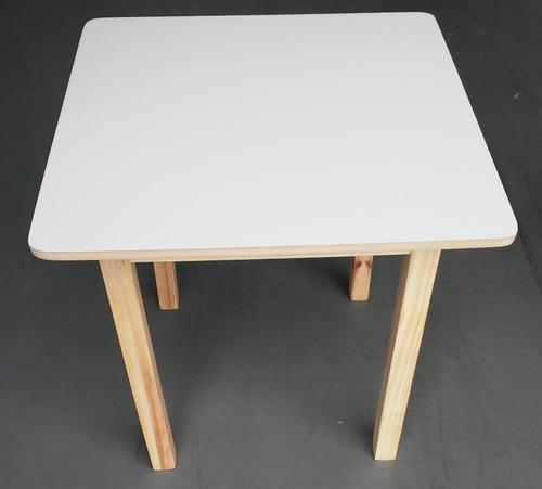 mesa infantil de madeira pinus quadrada super resistente air