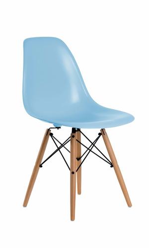 mesa infantil eames kids rosa/azul con 4 sillas. promo!!!
