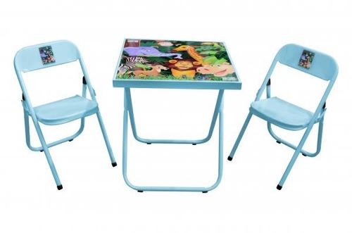 mesa infantil escolar mesinha dobravel com 2 cadeiras