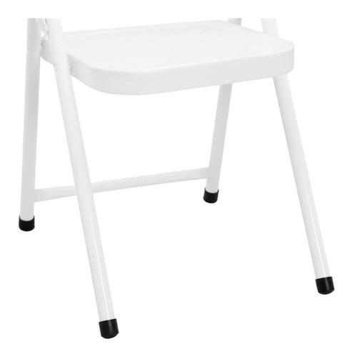 mesa infantil escolar mesinha dobravel com 2 cadeiras branca