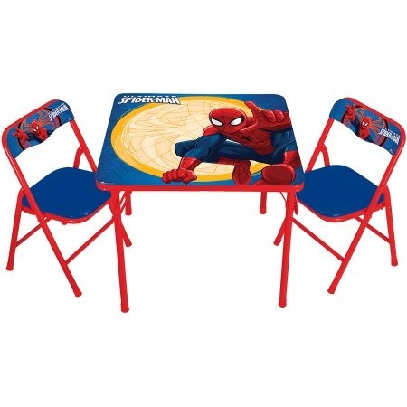 mesa infantil para ninos disney spider man original nueva