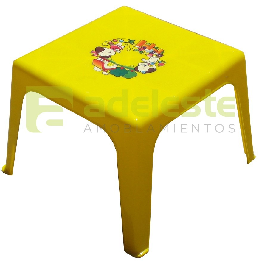 Mesa infantil para ni os en pl stico pvc con dise os for Mesas infantiles de plastico