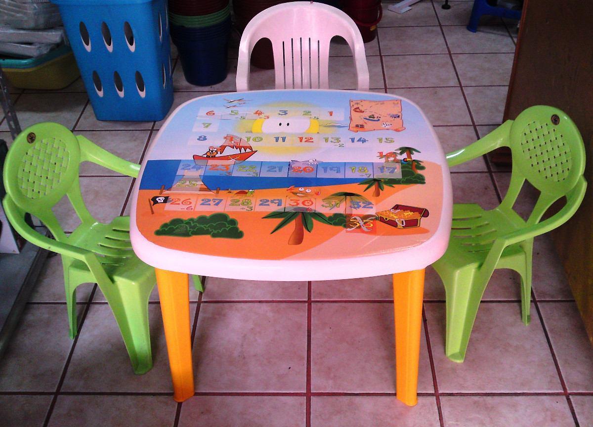 Mesa Infantil Para Niños  Sillas De Plastico  $ 32000 en Mercado