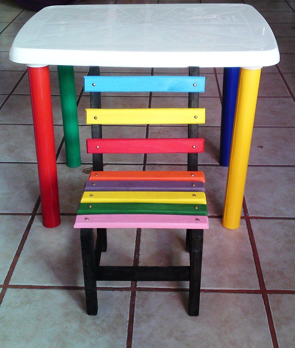 Mesa infantil para ni os sillas de plastico for Sillas plasticas para ninos wenco