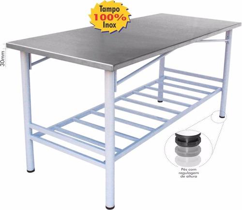 mesa inox 1,50mt c/ paneleiro para comércio