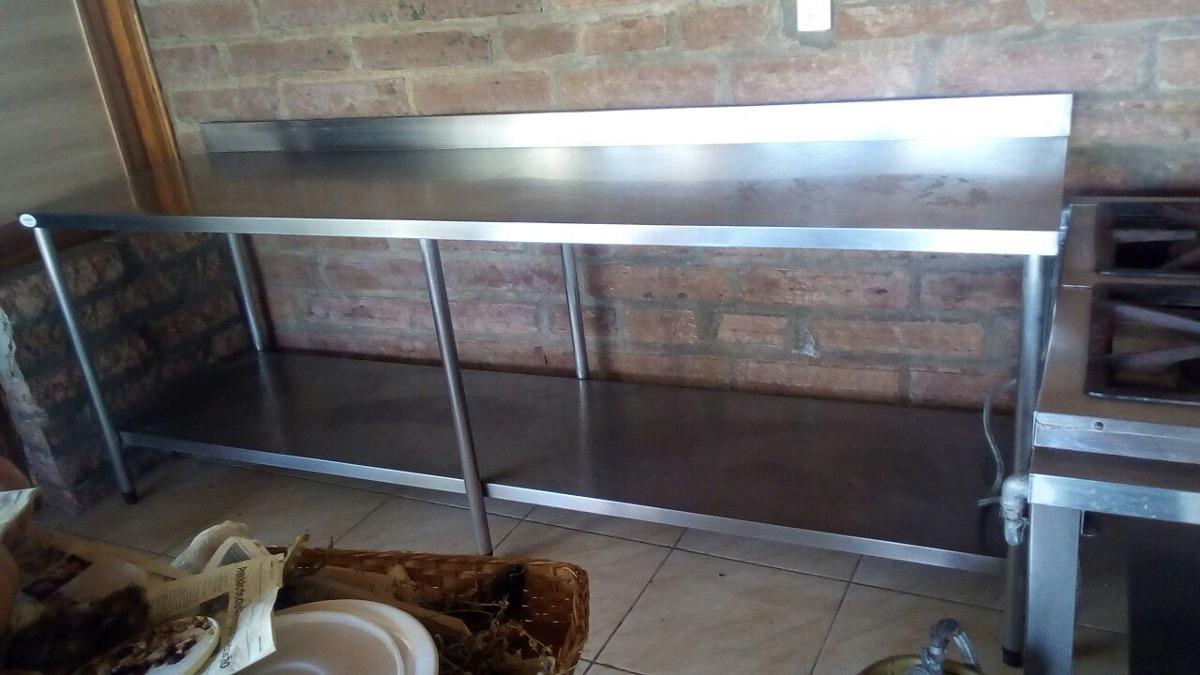 Mesa Inox 304 Cozinha Industrial R 2 700 00 Em Mercado Livre