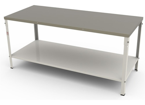 mesa inóx central m160 braesi  160 x 60 prateleira lisa
