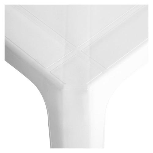 mesa intima de plastico cuadrada blanca garden life kromo-s