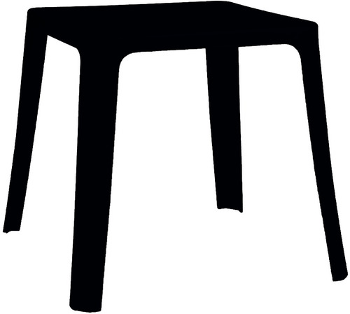 mesa intima, ideal bares, apilable,color negro