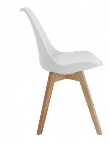 mesa iriarte de vidrio 140x80 + 4 sillas tulip pata madera