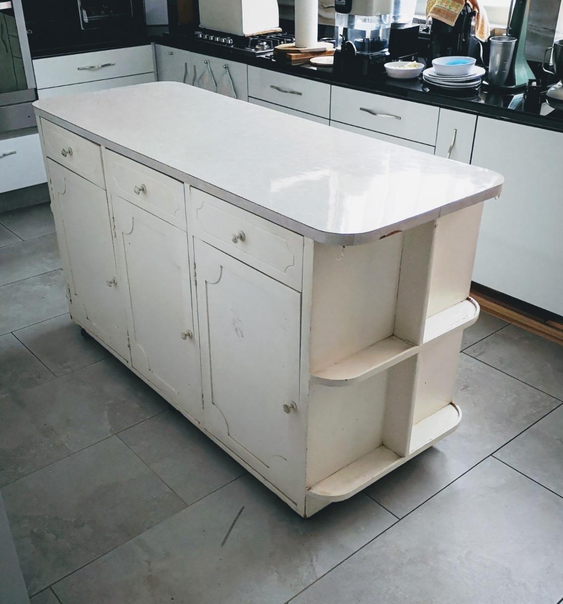 Mesa isla para cocina de madera 3 en mercado libre - Cocina de madera ...