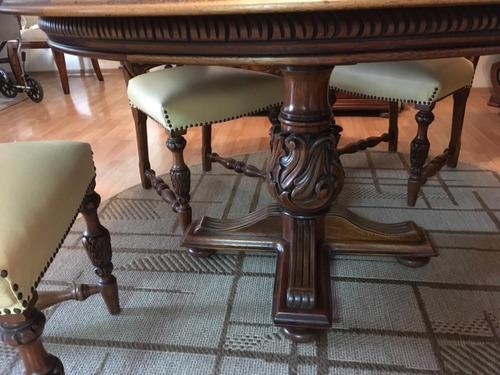 mesa jantar alongavel  cerejeira maciça entalhada 4 cadeiras