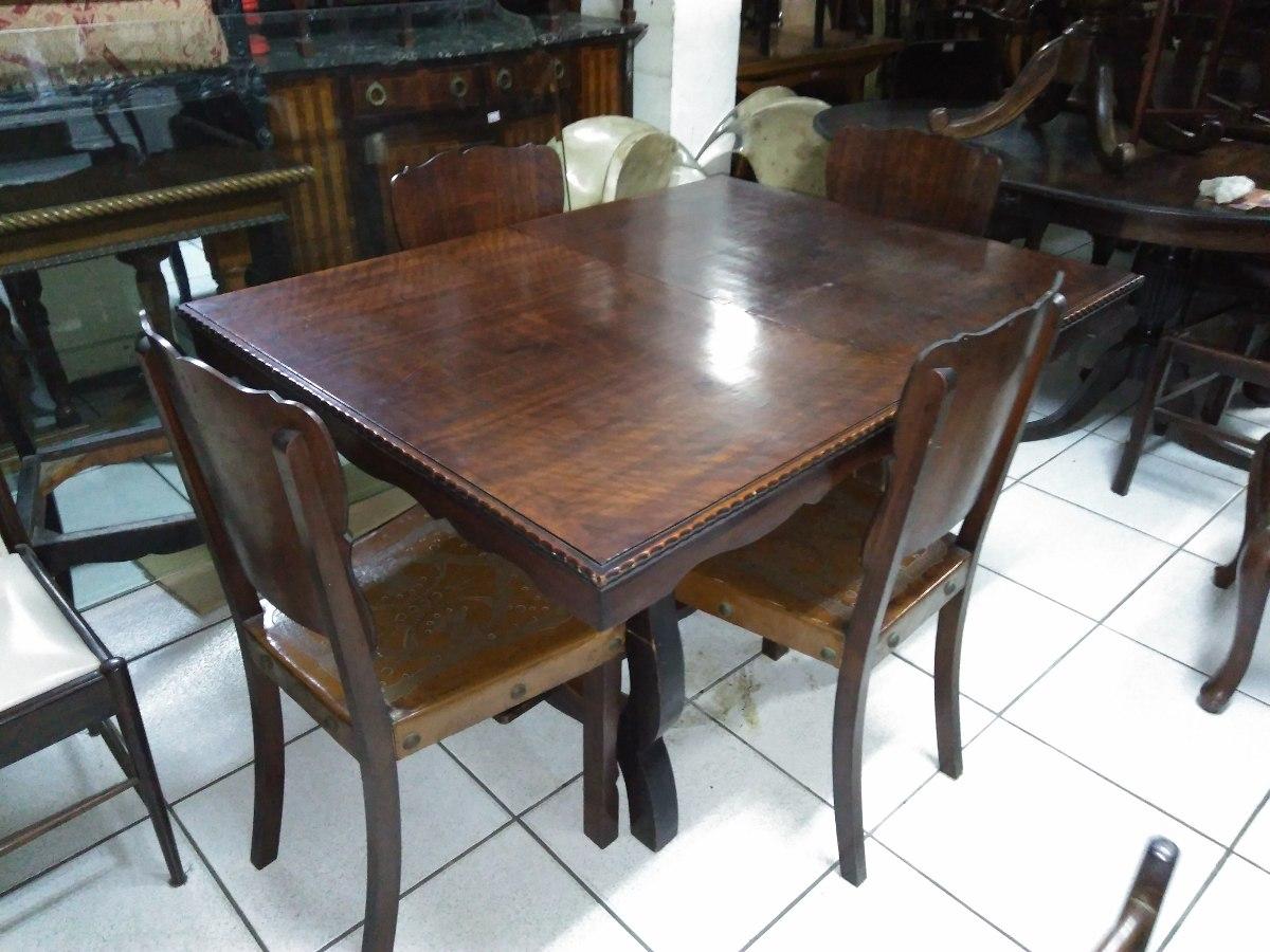Mesa jantar com 4 cadeiras r stica peroba do campo r 1 - Mesa de campo ...