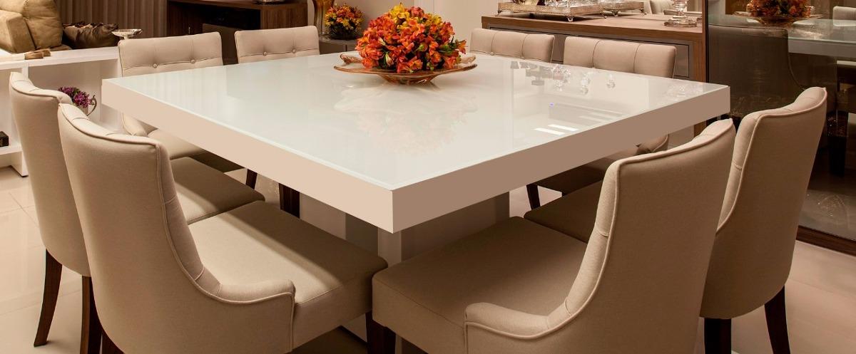 Mesa Jantar Laca Branca, 1.20mx 1.20m, Mesa Laca - R$ 2 ...