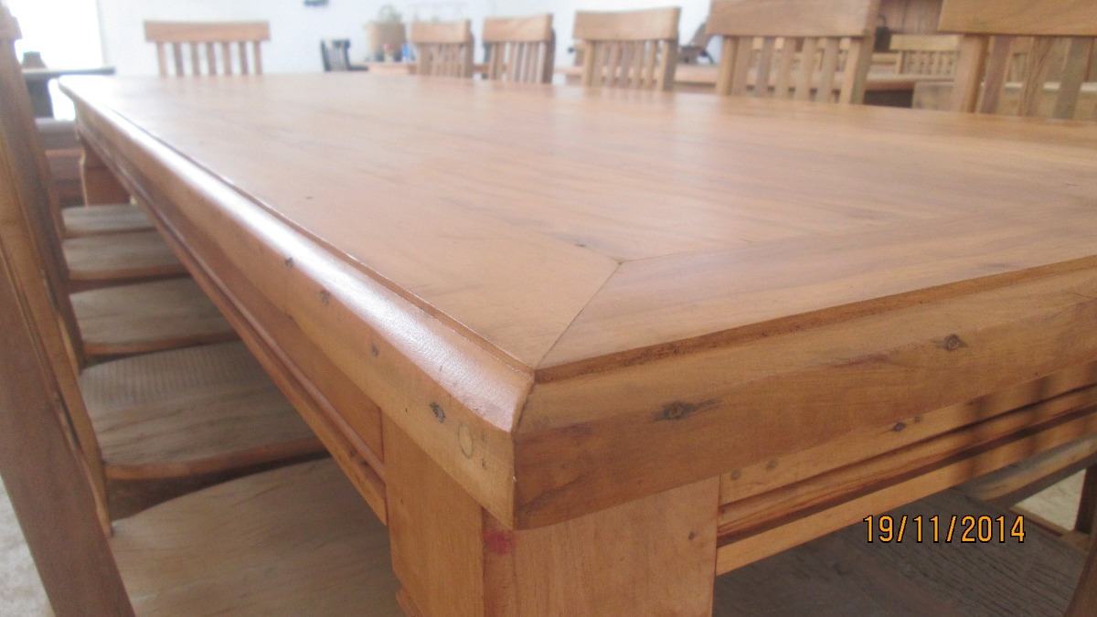 Mesa de jantar madeira maci a peroba 3 metros x r for Mesa 2 metros comensales