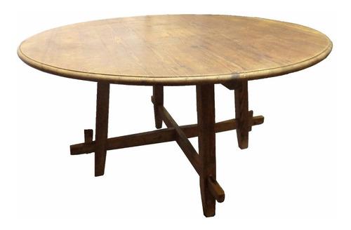 mesa jantar pinho de riga maciço 1,60 m de diametro
