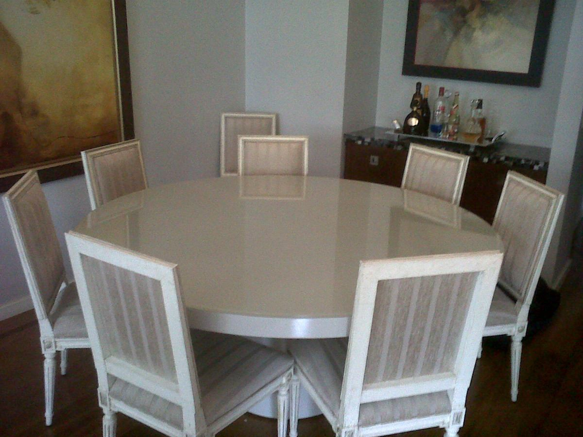 Mesa Sala De Jantar Usada ~ linda mesa de jantar em laca branca, usada por cerca de um ano e meio