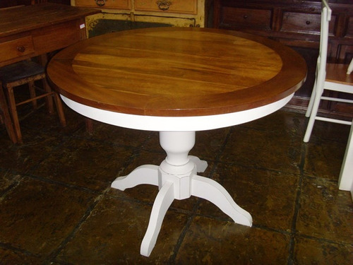 mesa jantar redonda madeira