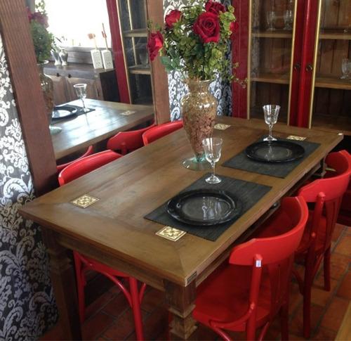 mesa jantar retangular madeira
