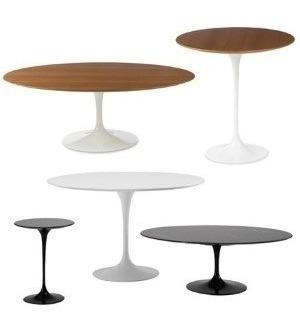 mesa jantar saarinen oval branco extra 160x90