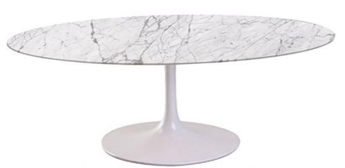 mesa jantar saarinen oval branco extra 198x122