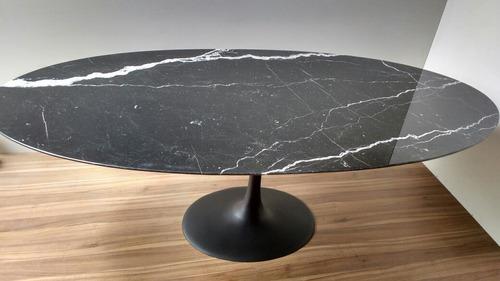 mesa jantar saarinen oval mármore nero 1,98 x 1.22  promoção