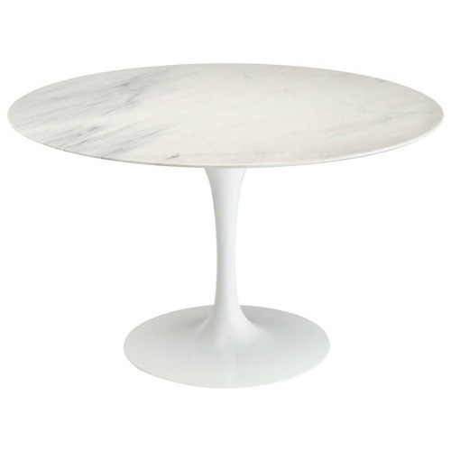mesa jantar saarinen redonda 1,24 branco extra