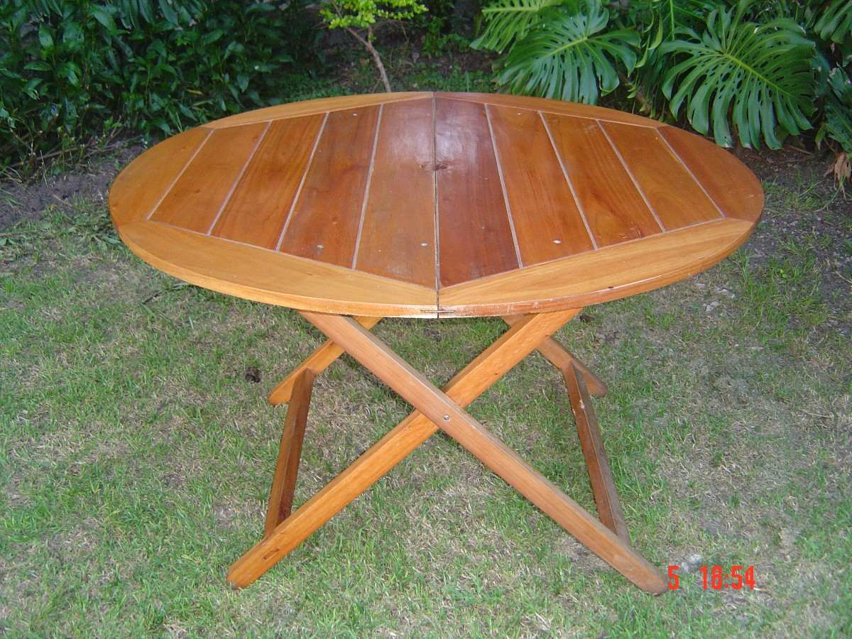 Mesas de madera para exterior gallery of mesa ale de - Mesas de madera para exterior ...