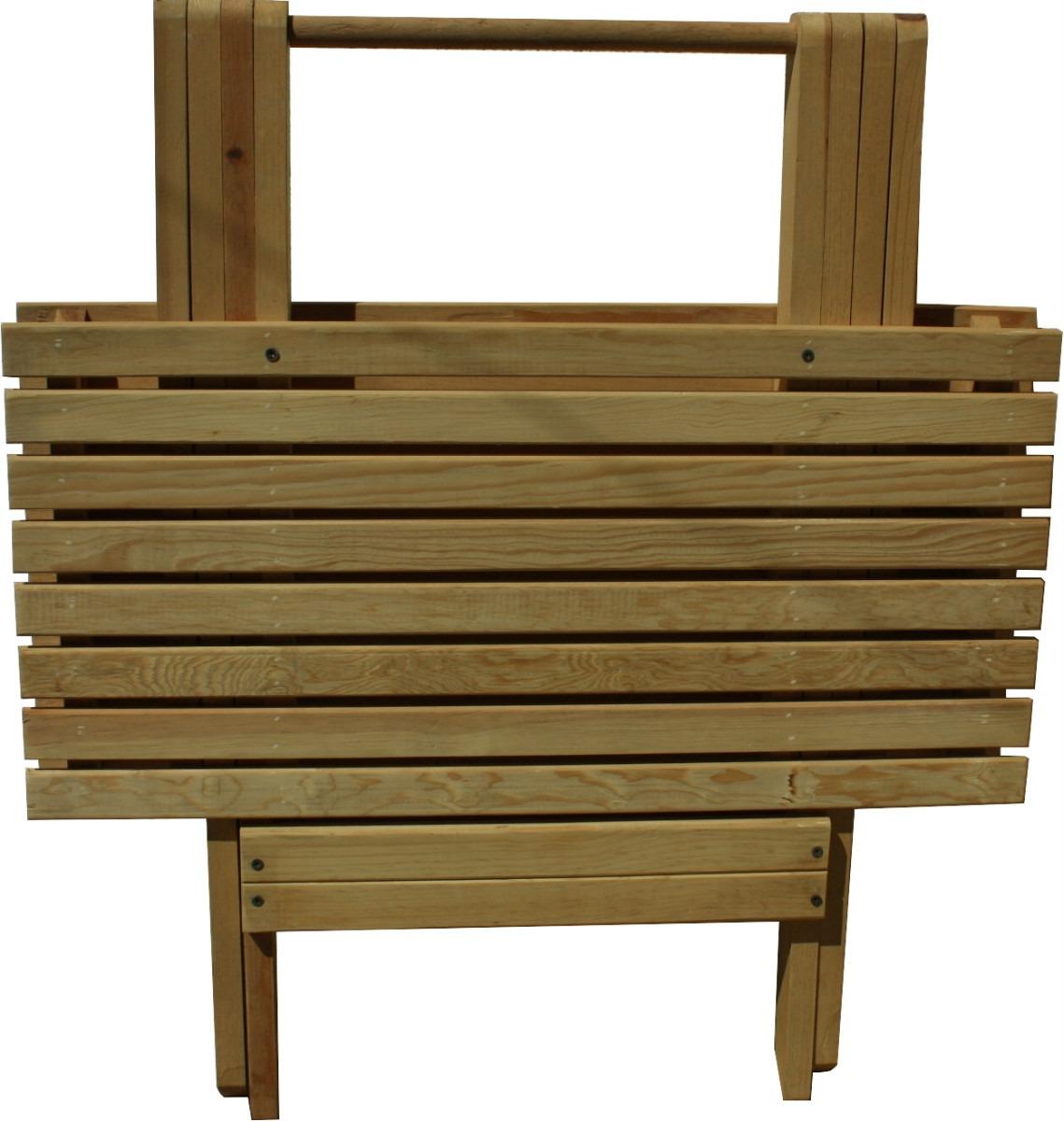 Mesa de jard n mueble plegable madera jardin o interiores - Muebles exterior madera ...