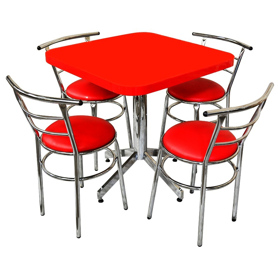 Mesa juego con 4 sillas para restaurante comedor barato for Mesas y sillas para terraza