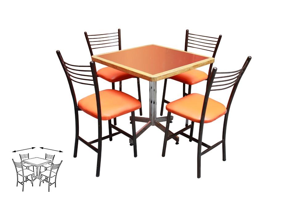 Mesa juego con 4 sillas para restaurante comedor barato for Tipos de sillas para comedor
