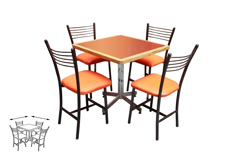 Mesa Juego Con 4 Sillas Para Restaurante Comedor Barato