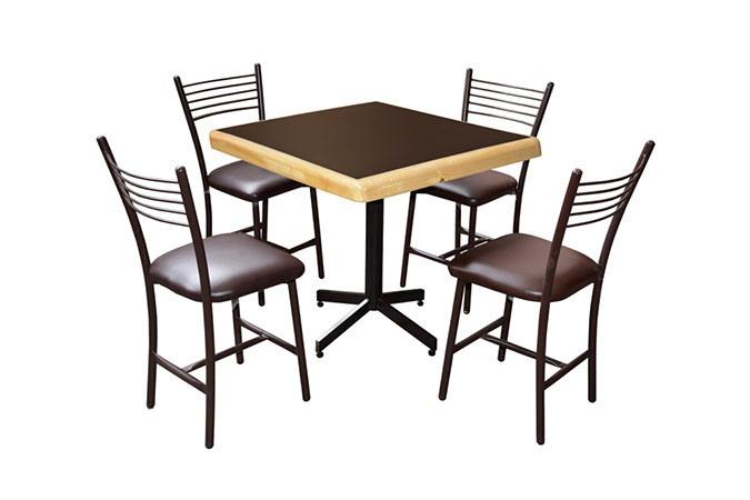 Mesa juego con 4 sillas para restaurante comedor barato ciec 2 en mercado libre - Sillas para cafeteria ...