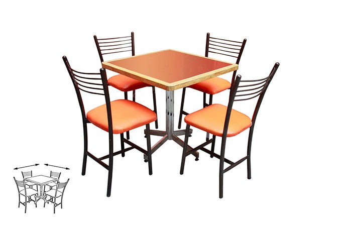 Mesa juego con 4 sillas para restaurante comedor barato - Mesa plegable con sillas dentro ...