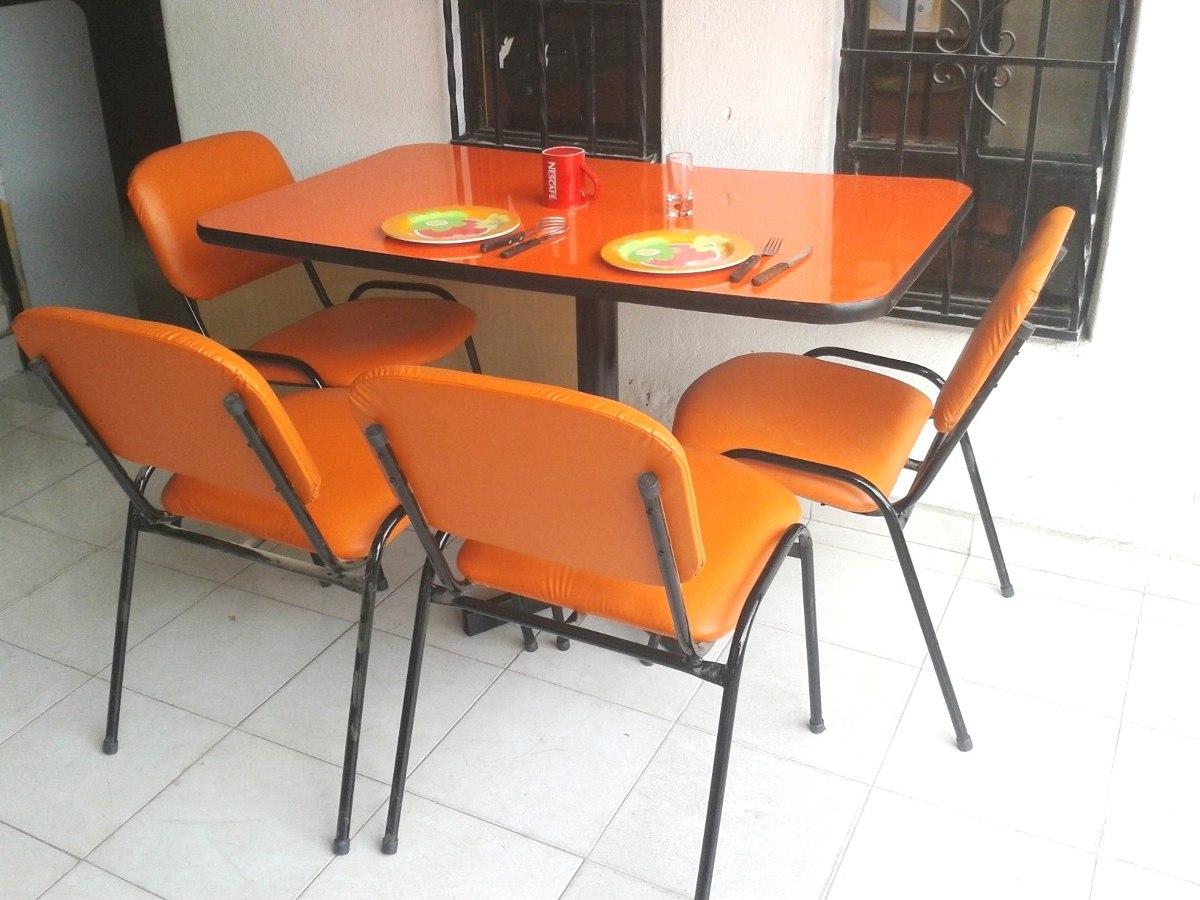 Mesa Juego Con 6 Sillas Restaurante Comedor Hogar Bar