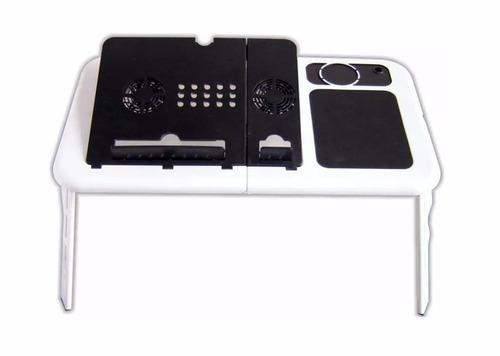 mesa laptop de cama con refrigerador + pad mouse + porta vas