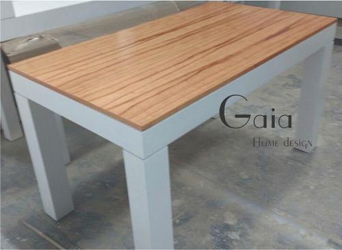 mesa laqueada paraíso comedor madera escandinava 140 x 80 cm
