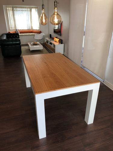 mesa laqueada paraíso comedor moderna madera 140cm nordica