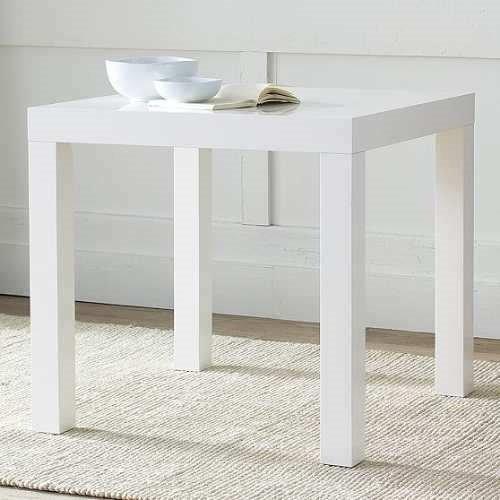 Mesa Laqueado De Comedor Color Blanco Vintage 70x70 - $ 2.300,00 en ...