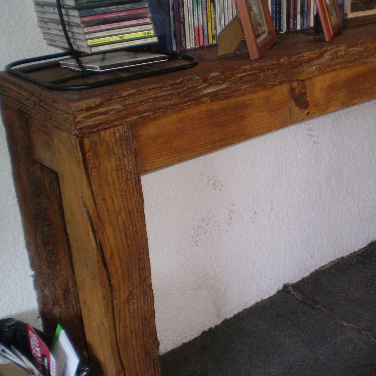 Mesa larga y delgada de madera de viga antigua ofrezca - Restaurar vigas de madera ...
