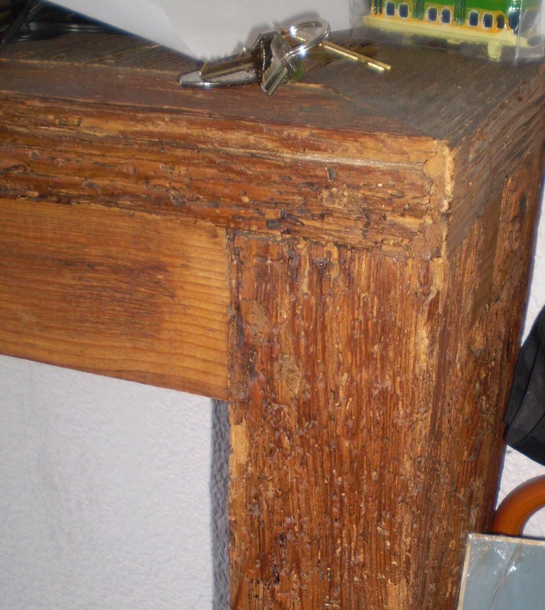 Mesa larga y delgada de madera de viga antigua ofrezca - Vigas de madera antiguas ...