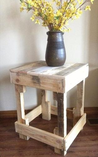 mesa lateral arno 40x50x40 madera reciclada pantano pallet