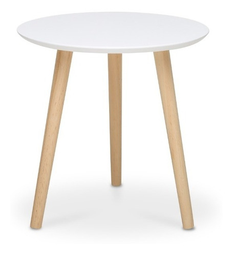 mesa lateral auxiliar ana ch nórdica redonda 32 cm env grat